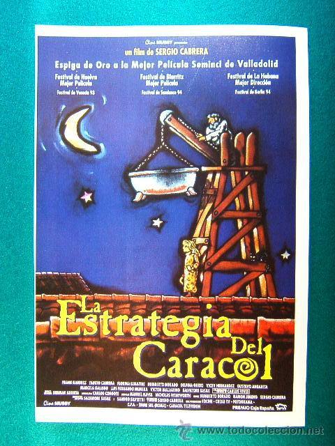 LA ESTRATEGIA DEL CARACOL - SERGIO CABRERA - FRANK RAMIREZ - FAUSTO CABRERA - CARLOS VIVES - GUIA... (Cine - Reproducciones de carteles, folletos...)