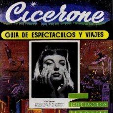 Cine: CICERONE - GUIA DE ESPECTACULOS Y VIAJES - FEBRERO 1956 - PORTADA JEAN COLINS. Lote 38178469