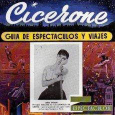 Cine: CICERONE - GUIA DE ESPECTACULOS Y VIAJES - NOVIEMBRE 1955 - PORTADA LESLIE CARON. Lote 38178471