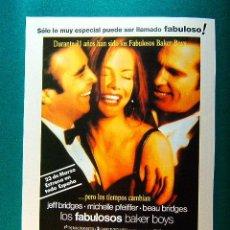 Cine: LOS FABULOSOS BAKER BOYS - STEVE KLOVES - JEFF BRIDGES - MICHELLE PFEIFFER - BEAU BRIDGES - GUIA .... Lote 260309005