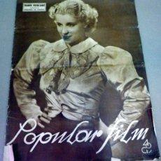 Cine: REVISTA DE CINE, POPULAR FILM, Nº 543, ENERO 1937, MARIA MERCADE. Lote 38255130