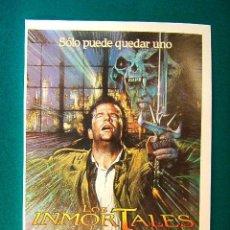 Cine: LOS INMORTALES - HIGHLANDER - ANDREW MORAHAN - CHRISTOPHER LAMBERT - RAUL TRUJILLO - GUIA ... . Lote 38207083