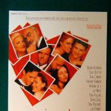 Cine: JUGANDO CON EL CORAZON - WILLARD CARROLL - GILLIAN ANDERSON - SEAN CONNERY - ANGELINA JOLIE -GUIA.... Lote 114999620