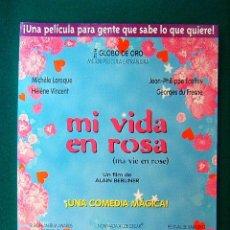 Cinema: MI VIDA EN ROSA - MA VIE EN ROSE - ALAIN BERLINER - MICHELE LAROQUE - HELENE VINCENT - GUIA .... Lote 38239588