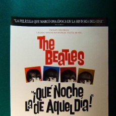 Cinéma: QUE NOCHE LA DE AQUEL DIA ! - A HARD DAY'S NIGHT - THE BEATLES - RICHARD LESTER - GUIA .... Lote 38305109