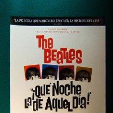 Cinema: QUE NOCHE LA DE AQUEL DIA ! - A HARD DAY'S NIGHT - THE BEATLES - RICHARD LESTER - GUIA .... Lote 38305109