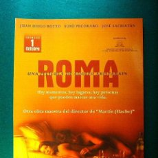 Cine: ROMA - ADOLFO ARISTARAIN - JUAN DIEGO BOTTO - SUSU PECORARO - JOSE SACRISTAN - GUIA .... Lote 272985898