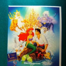 Cinéma: LA SIRENITA - THE LITTLE MERMAID - WALT DISNEY - JOHN MUSKER - RON CLEMENTS - ANIMACION - GUIA .... Lote 232024040