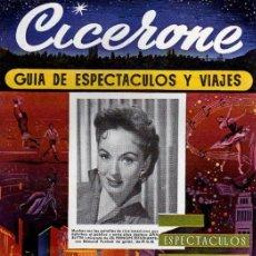 Cine: CICERONE - GUIA DE ESPECTACULOS Y VIAJES - NOVIEMBRE 1955 - PORTADA ANN BLYTH. Lote 38335981