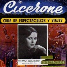 Cine: CICERONE - GUIA DE ESPECTACULOS Y VIAJES - OCTUBRE 1955 - PORTADA LUCIA BOSE. Lote 38336010
