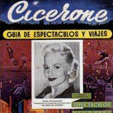 Cine: CICERONE - GUIA DE ESPECTACULOS Y VIAJES - SEPTIEMBRE 1955 - PORTADA OLIVIA DE HAVILLAND. Lote 38336052