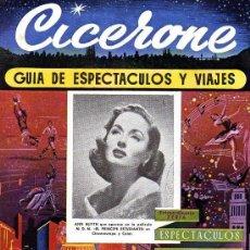 Cine: CICERONE - GUIA DE ESPECTACULOS Y VIAJES - JUNIO 1955 - PORTADA ANN BLIYTH. Lote 38336630