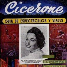 Cine: CICERONE - GUIA DE ESPECTACULOS Y VIAJES - ENERO 1956 - PORTADA JULIE ADAMS. Lote 38336636