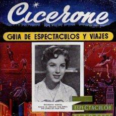 Cine: CICERONE - GUIA DE ESPECTACULOS Y VIAJES - ENERO 1956 - PORTADA ENCARNITA FUENTES. Lote 38336644