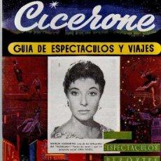 Cine: CICERONE - GUIA DE ESPECTACULOS Y VIAJES - MARZO 1956 - PORTADA MARUJA ASQUERINO. Lote 38336646