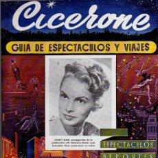 Cine: CICERONE - GUIA DE ESPECTACULOS Y VIAJES - ENERO 1956 - PORTADA JANET LEIGH. Lote 38336648