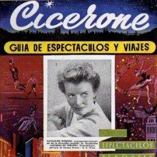 Cine: CICERONE - GUIA DE ESPECTACULOS Y VIAJES - AGOSTO 1955 - PORTADA KATHARINE HEPBURN. Lote 38336650
