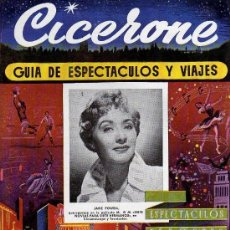 Cine: CICERONE - GUIA DE ESPECTACULOS Y VIAJES - AGOSTO 1955 - PORTADA JANE POWELL. Lote 38336659