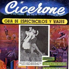 Cine: CICERONE - GUIA DE ESPECTACULOS Y VIAJES - MAYO 1955 - PORTADA LONDON'S FESTIVAL BALLET. Lote 38336666