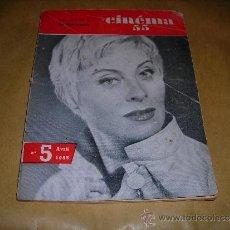 Cine: (M) REVISTA CINEMA 55- Nº5 ABRIL1955 ,DIRECTEUR MARC LELARGE ,PARIS 96 PAG. 18,5X14 CM. . Lote 38359631