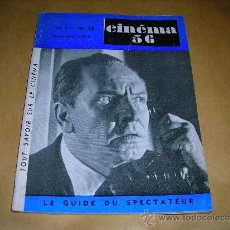 Cine: (M) REVISTA CINEMA 56- Nº10 MARS - AVRIL 1956 ,DIRECTEUR MARC LELARGE ,PARIS 96 PAG. 18,5X14 CM. . Lote 38359777