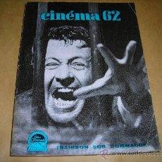 Cine: (M) REVISTA CINEMA 62-Nº 71 DECEMBRE 1962,DIRCT. JEAN BILLEN PARIS 160 PAG. - 18,5X14 CM. . Lote 38360382