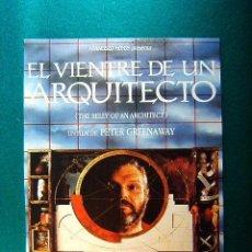 Cine: EL VIENTRE DE UN ARQUITECTO - PETER GREENAWAY - BRIAN DENNEHY - CHLOE WEBB - GUIA .... Lote 270959823