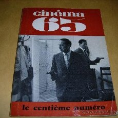 Cine: (M) REVISTA CINEMA 65 Nº 100 NOVEMBRE 1965 DIRECT. JEAN BILLEN ,PARIS 136 PAG. - 18X14 CM. . Lote 38367509