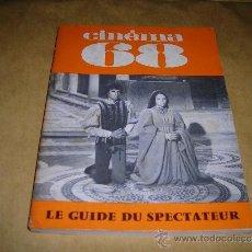 Cine: (M) REVISTA CINEMA 68 Nº 129 OCTOBRE 1968 ,DIRCT. JEAN BILLEN PARIS 144 PAG. 18,5X14 CM. . Lote 38372797
