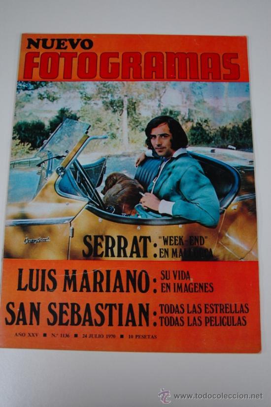 REVISTA FOTOGRAMAS Nº 1136 JULIO 1970 - JOAN MANEL SERRAT - LUIS MARIANO (Cine - Revistas - Fotogramas)