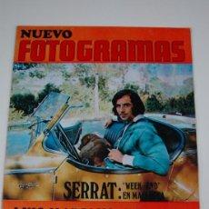 Cine: REVISTA FOTOGRAMAS Nº 1136 JULIO 1970 - JOAN MANEL SERRAT - LUIS MARIANO. Lote 38373969