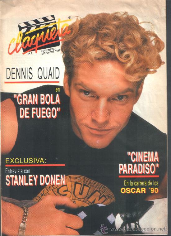 .1 REVISTA DE CINE ** CLAQUETA ** Nº 8 - NOVIEMBRE DICIEMBRE 1989 (Cine - Revistas - Claqueta)