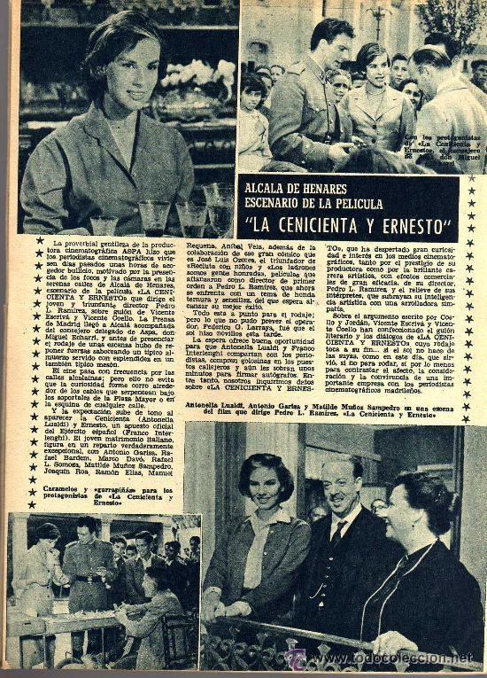 Cine: RADIOCINEMA Nº 360 -15 JUNIO 1957 - PORTADA FRANÇOISE ARNOUL - CONTRAPORTADA CURD JURGENS - Foto 5 - 38412136
