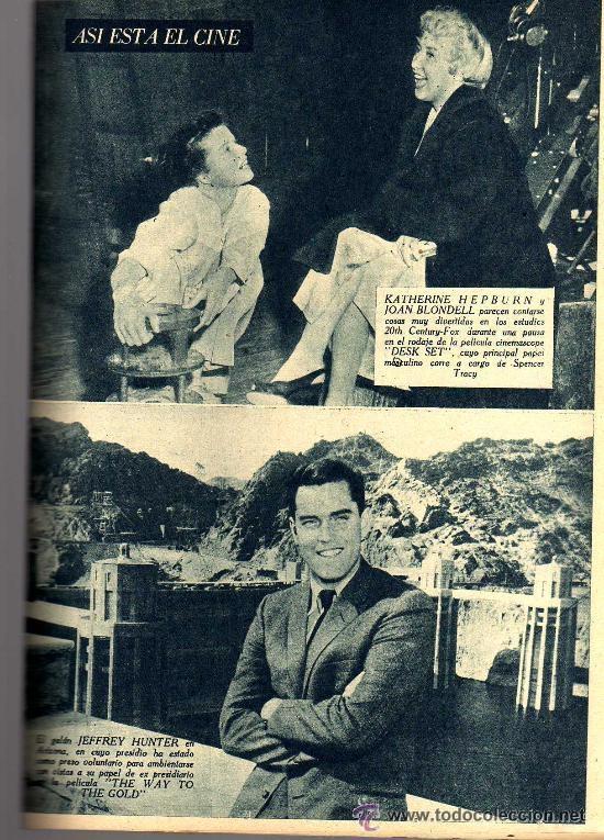 Cine: RADIOCINEMA Nº 360 -15 JUNIO 1957 - PORTADA FRANÇOISE ARNOUL - CONTRAPORTADA CURD JURGENS - Foto 8 - 38412136