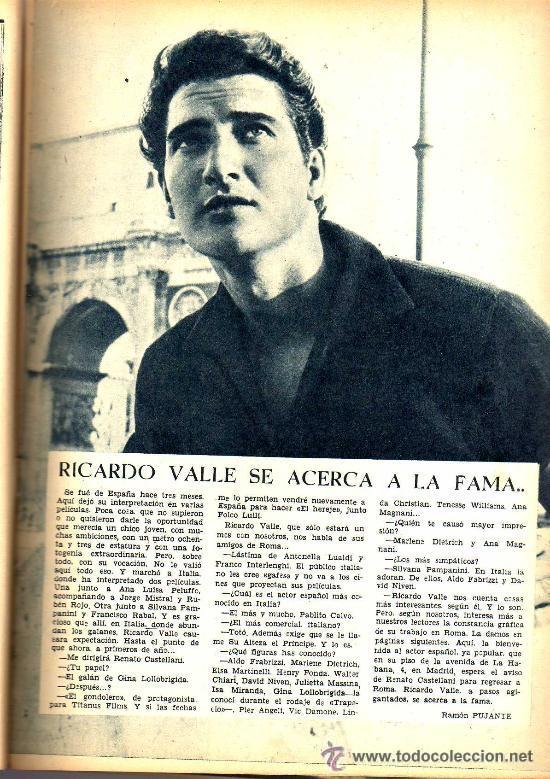 Cine: RADIOCINEMA Nº 328 - 3 NOVIEMBRE 1956 - PORTADA ANA MARISCAL - CONTRAPORTADA GLEN FORD - Foto 4 - 38401530
