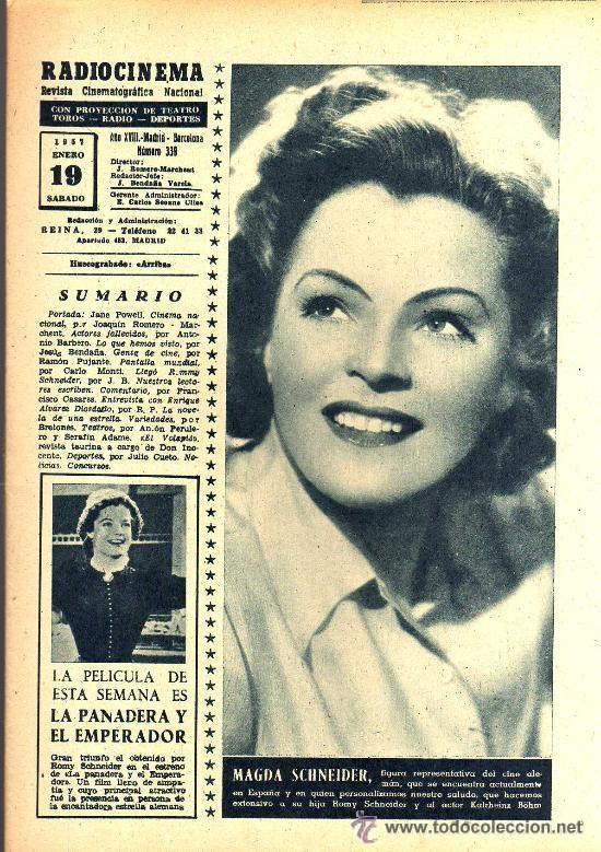 Cine: RADIOCINEMA Nº 339 - 19 ENERO 1957 - PORTADA JANE POWELL - CONTRAPORTADA ANN BLYTH - Foto 3 - 38401387