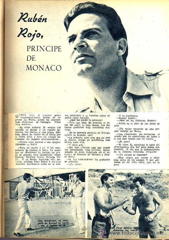Cine: RADIOCINEMA Nº 328 - 3 NOVIEMBRE 1956 - PORTADA ANA MARISCAL - CONTRAPORTADA GLEN FORD - Foto 5 - 38401530