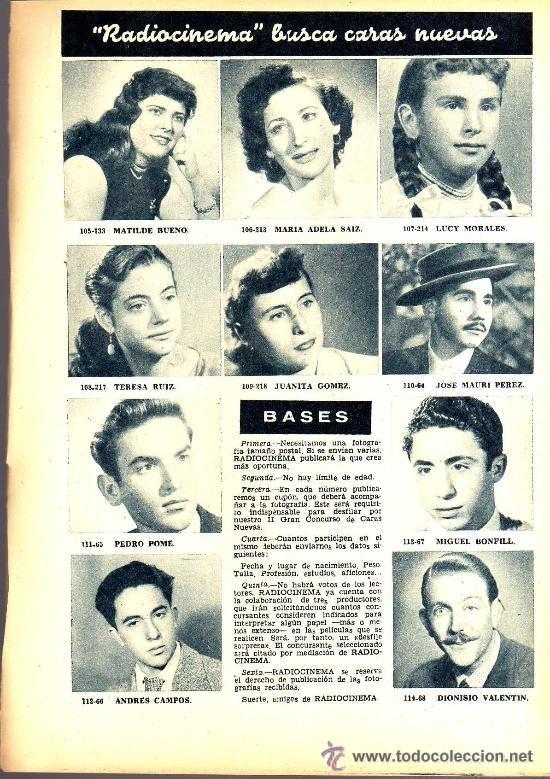 Cine: RADIOCINEMA Nº 328 - 3 NOVIEMBRE 1956 - PORTADA ANA MARISCAL - CONTRAPORTADA GLEN FORD - Foto 6 - 38401530