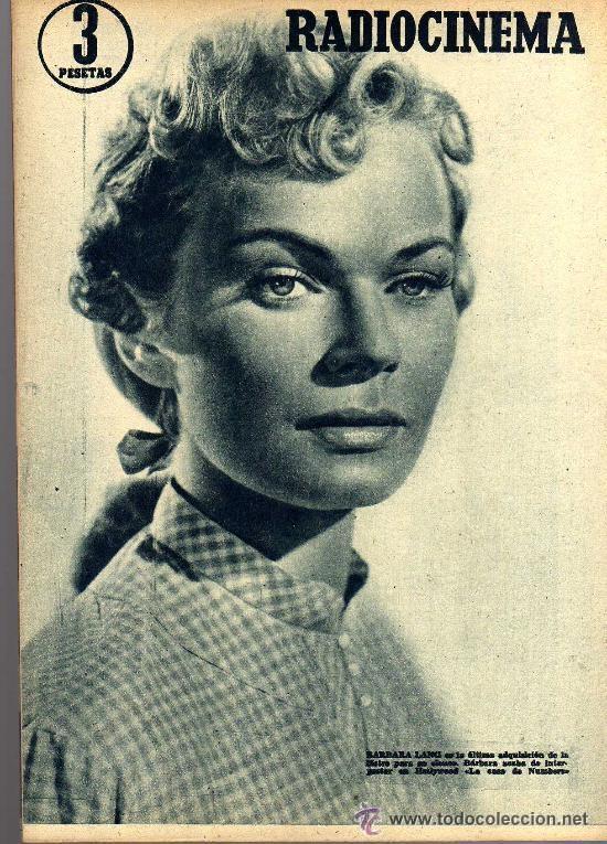 Cine: RADIOCINEMA Nº 353 -27 ABRIL 1957 - PORTADA VICENTE PARRA - CONTRAPORTADA BARBARA LANG - Foto 2 - 38401636