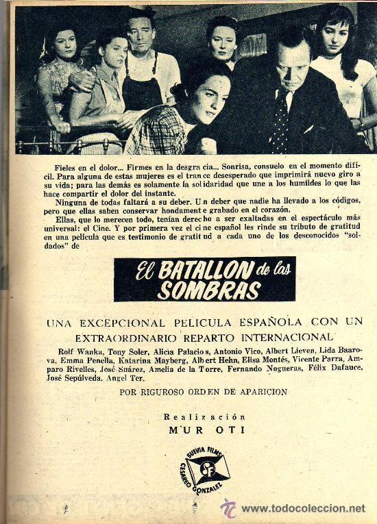 Cine: RADIOCINEMA Nº 353 -27 ABRIL 1957 - PORTADA VICENTE PARRA - CONTRAPORTADA BARBARA LANG - Foto 6 - 38401636