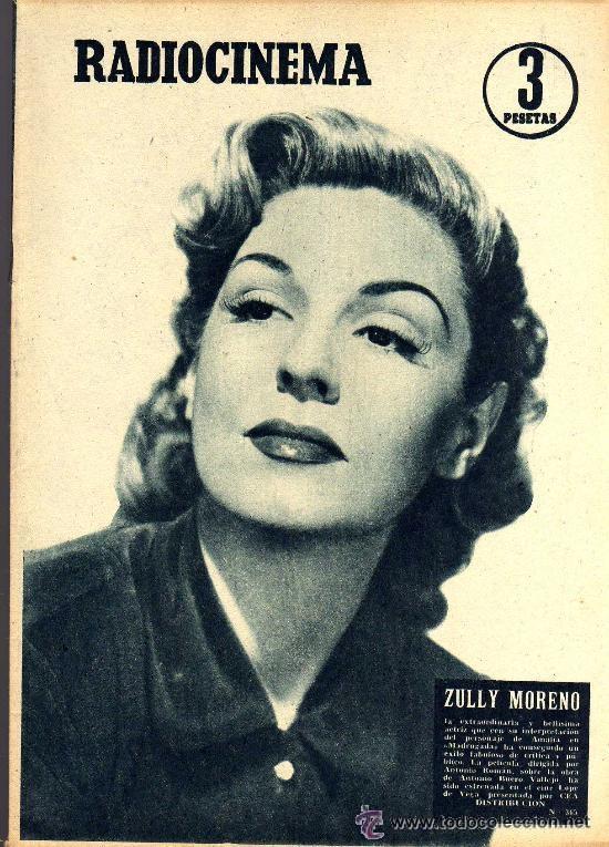 RADIOCINEMA Nº 365 - 20 JULIO 1957 - PORTADA ZULLY MORENO - CONTRAPORTADA FESTIVAL DE SAN SEBASTIAN (Cine - Revistas - Radiocinema)