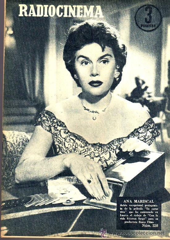 RADIOCINEMA Nº 328 - 3 NOVIEMBRE 1956 - PORTADA ANA MARISCAL - CONTRAPORTADA GLEN FORD (Cine - Revistas - Radiocinema)