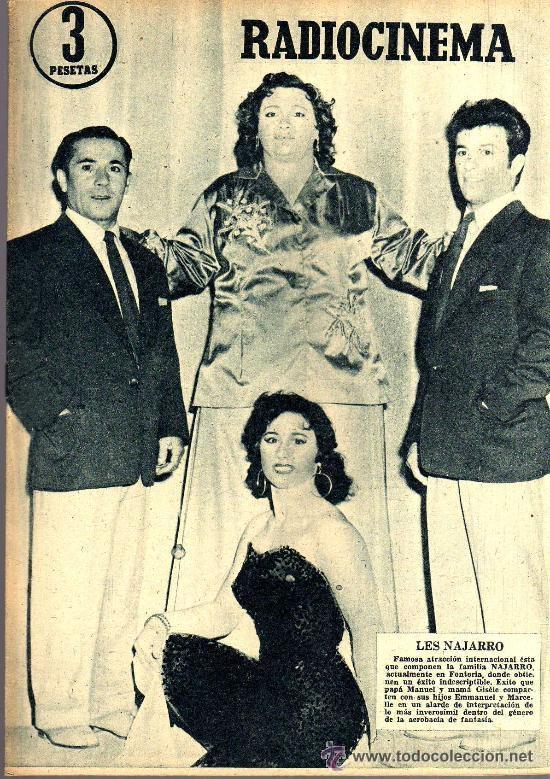 RADIOCINEMA Nº 334 - 15 DICIEMBRE 1956 - PORTADA LES NAJARRO - CONTRAPORTADA AUDREY HEPBURN (Cine - Revistas - Radiocinema)