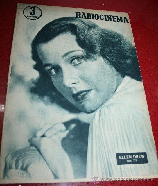 RADIOCINEMA Nº 379 - 19 OCTUBRE 1957 - PORTADA ELLEN DREW - CONTRAPORTADA ROCK HUDSON (Cine - Revistas - Radiocinema)