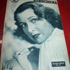 Cine: RADIOCINEMA Nº 379 - 19 OCTUBRE 1957 - PORTADA ELLEN DREW - CONTRAPORTADA ROCK HUDSON. Lote 38401759