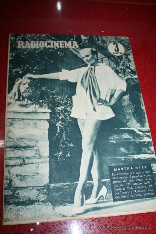 RADIOCINEMA Nº 369 - 17 AGOSTO 1957 - PORTADA MARTHA HYER - CONTRAPORTADA BARBARA VARENNA (Cine - Revistas - Radiocinema)
