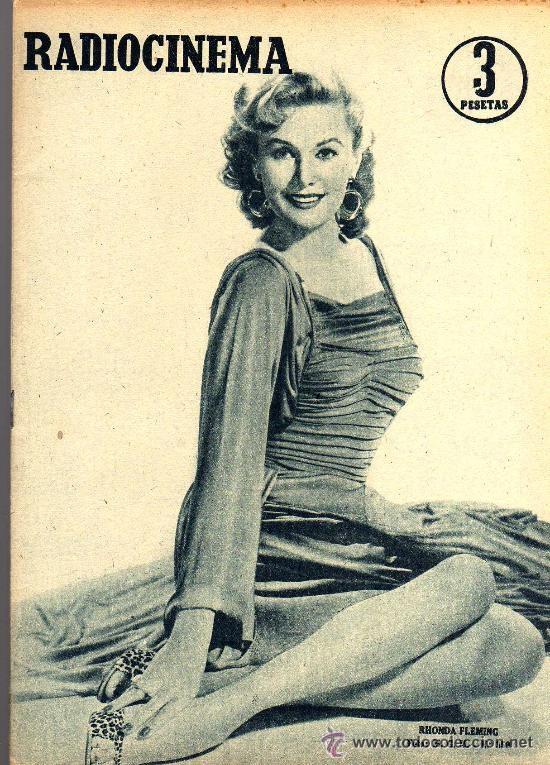 RADIOCINEMA Nº 359 -8 JUNIO 1957 - PORTADA RHONDA FLEMING - CONTRAPORTADA ROCK HUDSON (Cine - Revistas - Radiocinema)