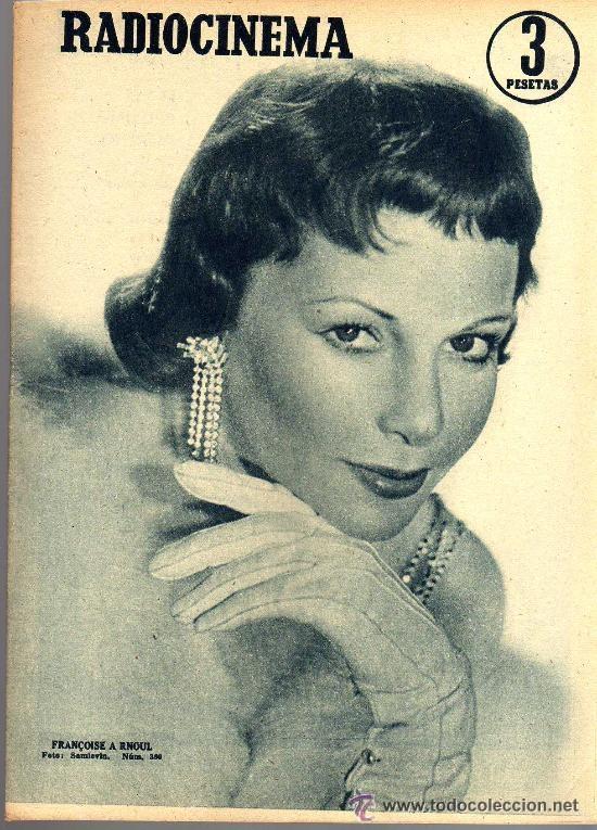 RADIOCINEMA Nº 360 -15 JUNIO 1957 - PORTADA FRANÇOISE ARNOUL - CONTRAPORTADA CURD JURGENS (Cine - Revistas - Radiocinema)