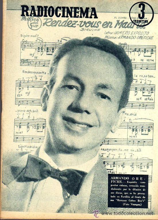RADIOCINEMA Nº 364 - 13 JULIO 1957 - PORTADA ARMANDO OREFICHE - CONTRAPORTADA JOYCE VAN DER VEN (Cine - Revistas - Radiocinema)