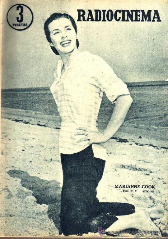 RADIOCINEMA Nº 347 - 16 MARZO 1957 - PORTADA MARIANNE COOK - CONTRAPORTADA GIA SCALA (Cine - Revistas - Radiocinema)